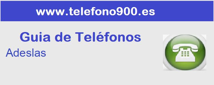 Telefono de  Adeslas