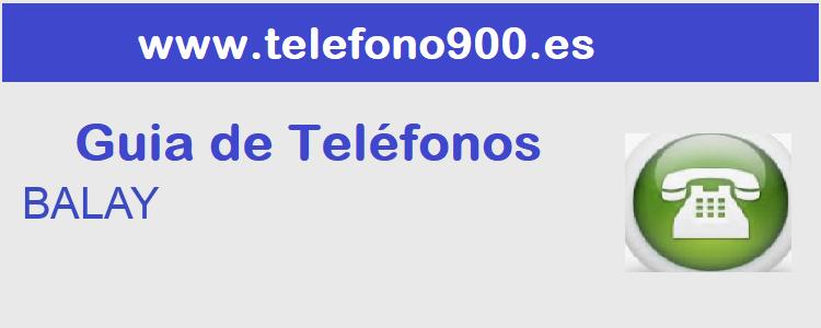 Telefono de  BALAY