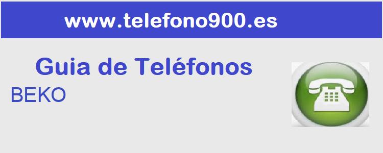 Telefono de  BEKO