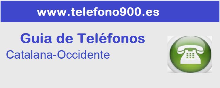 Telefono de  Catalana-Occidente