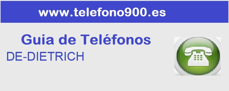 Telefono de  DE-DIETRICH