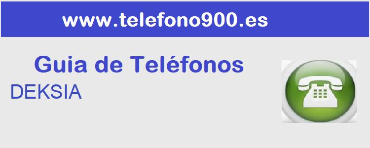 Telefono de  DEKSIA
