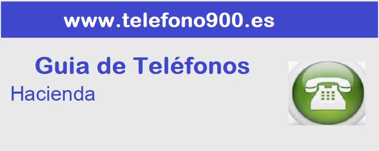 Telefono de  Hacienda