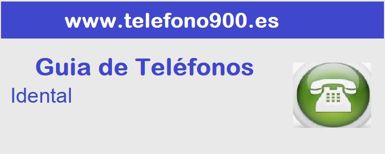 Telefono de  Idental