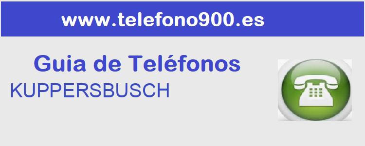 Telefono de  KUPPERSBUSCH