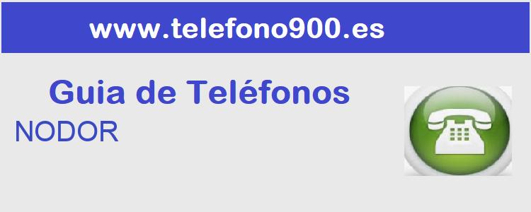 Telefono de  NODOR