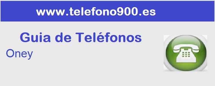 Telefono de  Oney