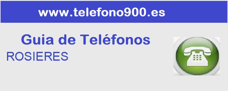 Telefono de  ROSIERES